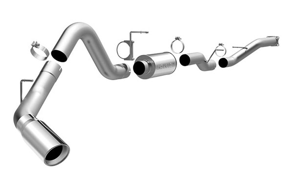 Magnaflow 16932 |  Exhaust System for GM DURAMAX DIESEL 6.6L Silverado/Sierra 2500HD/3500 CC/Shrt Bed 4in. CB SYSTEM Single Side Exit; 2001-2005