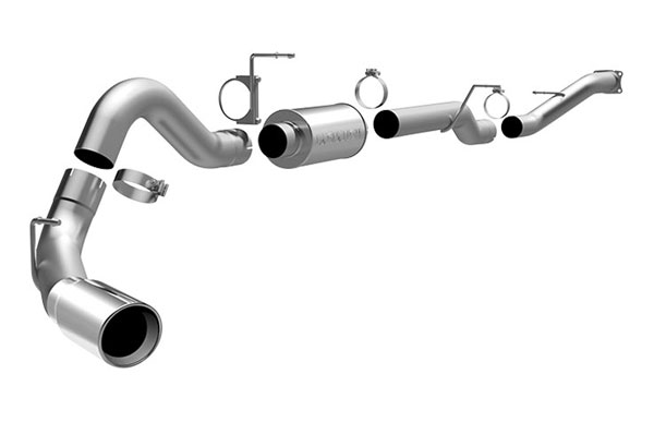 Magnaflow 16934:  Exhaust System for GM DURAMAX DIESEL 6.6L Silverado/Sierra 2500HD/3500 EC/LB 4in. CB SYSTEM 2001-2007 Single Side Exit