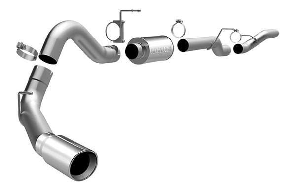Magnaflow 16940 |  Exhaust System for GM DURAMAX DIESEL 6.6L Silverado/Sierra 4in. CB SYSTEM CC/LB Dually Single Side Exit; 2006-2007