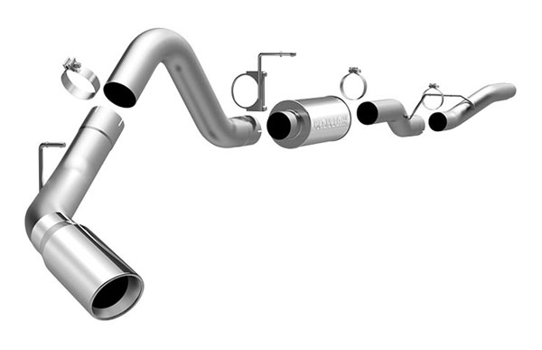 Magnaflow (16942)  Exhaust System for GM DURAMAX DIESEL 6.6L Silverado/Sierra 2500HD/3500 CC/Shrt Bed 4in. CB SYSTEM 2006-2007 Single Side Exit