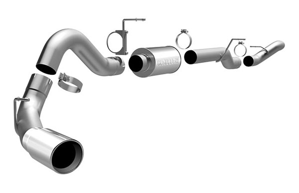 Magnaflow (16944)  Exhaust System for GM DURAMAX DIESEL 6.6L Silverado/Sierra 2500HD/3500 EC/LB Bed 4in. CB SYSTEM 2006-2007 Single Side Exit