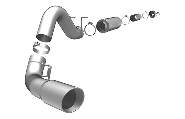 Magnaflow 16948 |  Exhaust System for FORD 7.3L POWERSTROKE DIESEL, 5in SYSTEM 1999-2007