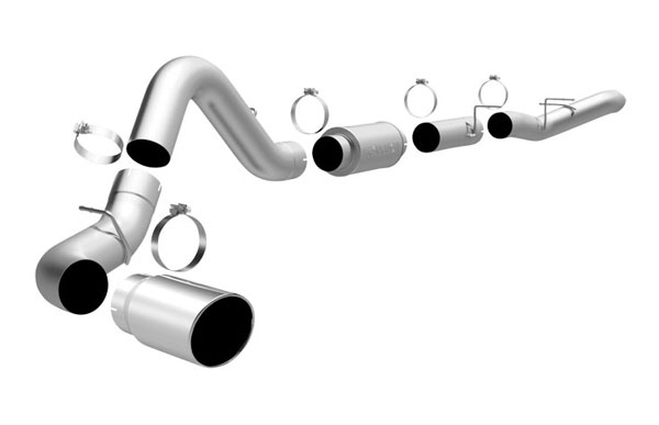 Magnaflow 16963 |  Exhaust System for GM DURAMAX DIESEL 6.6L Silverado/Sierra 2500HD/3500 CC/LB 5in. CB SYSTEM Clamp-on tip Single Side Exit; 2006-2006