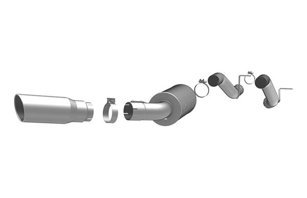 Magnaflow (16999)  Direct Fit Muffler Replacement Kit; 3.5in. Tubing for 2003-07 GM Duramax 6.6L 2500HD/3500 CC/SB
