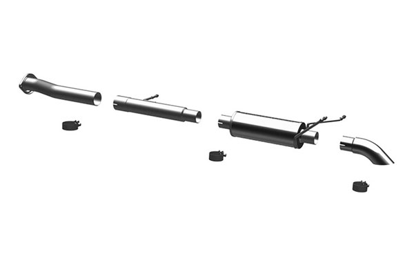 Magnaflow 17103 |  Exhaust System for Silverado/Sierra 4.3L 4.8L 5.3L SC Off Road Pro Series 3.0in. Tubing; 3.0in. Turn Down In Front of Rear Tire; 2007-2008
