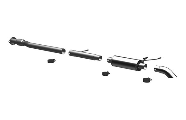 Magnaflow 17104 |  Exhaust System for Silverado/Sierra 4.3L 4.8L 5.3L EC CC Off Road Pro Series 3.0in. Tubing; 3.0in. Turn Down In Front of Rear Tire; 2007-2008