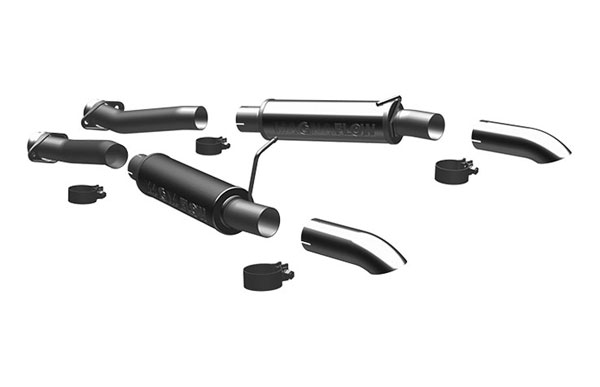 Magnaflow 17118 |  Exhaust System for Ford Mustang GT 2.5 inch 4.6/5.0 Turn Down In Front of Rear Tire V8; 1994-2004