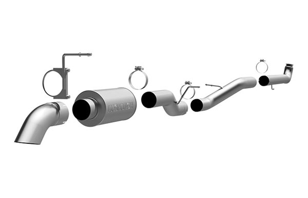 Magnaflow 17127 |  Exhaust System for GM Diesel Silverado/Sierra 2500HD/3500 6.6L CC/SB Off Road Pro Series; Turbo-Back 4.0in. Tubing; 4.0in. Turn Down; 2001-2007
