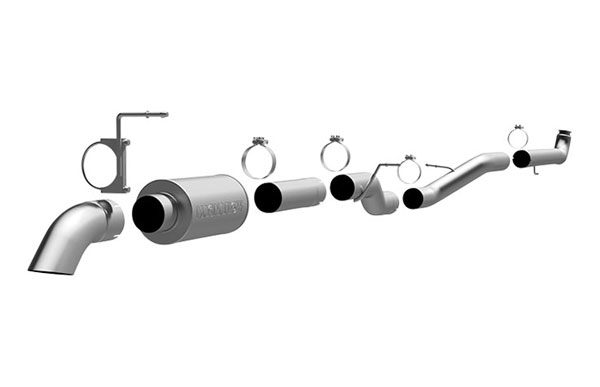 Magnaflow (17129)  Exhaust System for 2001-07 GM Diesel Silverado/Sierra 2500HD/3500 6.6L CC/LB Off Road Pro Series; Turbo-Back 4.0in. Tubing; 4.0in. Turn Down