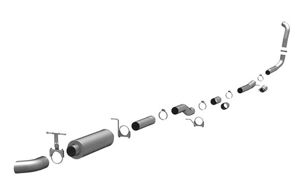 Magnaflow 17133 |  Exhaust System for Ford Diesel EC/CC 4 inch; 2003-2007