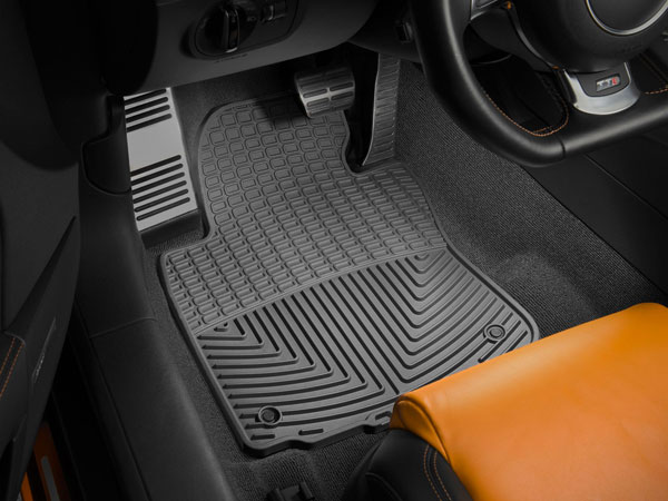 WeatherTech (W67)  Front Rubber Mats Audi S4 Sedan 2000 - 2008, Black