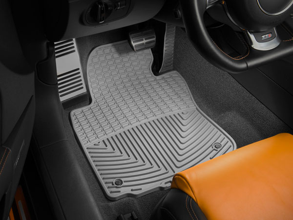 WeatherTech W67GR |  Front Rubber Mats Audi A4 Sedan - Grey; 2002-2008