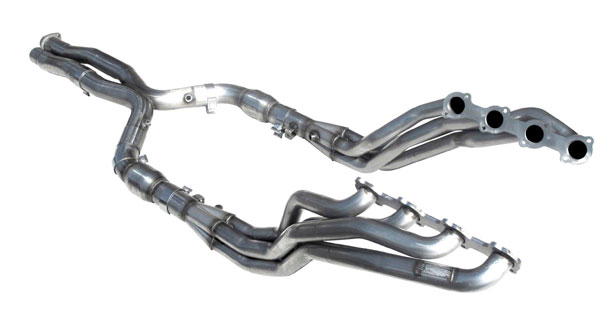 American Racing Headers MBE55-03178300LSWC |  MERCEDES E55 AMG 2003-2006 Long System With Cats, Header 1-7/8in, 3in X-Pipe W/Cats