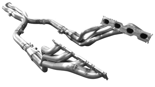 American Racing Headers MBE63-07178300LSWC: E63 2007-2009 Long System With Cats: 1-7/8in x 3in Header Pair, 3in XPipe With Cats