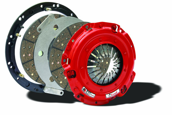 McLeod Racing 6908-07 | McLeod Shelby GT500 Mustang RST Twin Disc Clutch Kit Steel Flywheel 8-Bolt Crank; 2007-2009