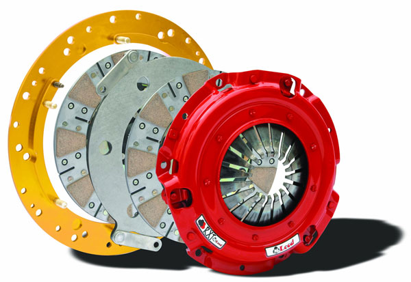 McLeod Racing 6918-07 | McLeod Shelby GT500 Mustang RXT Twin Disc Clutch Kit Steel Flywheel 8-Bolt Crank; 2007-2009