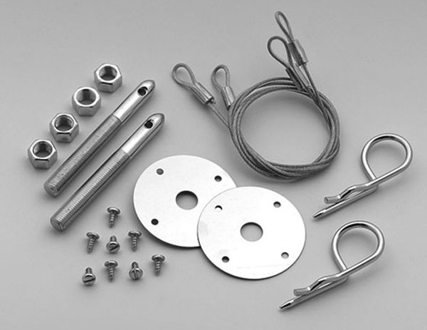 LMPerformance MG1616 |  Hood Pin Kit - Competition-Style Safety Pin w/cables; 2010-2013