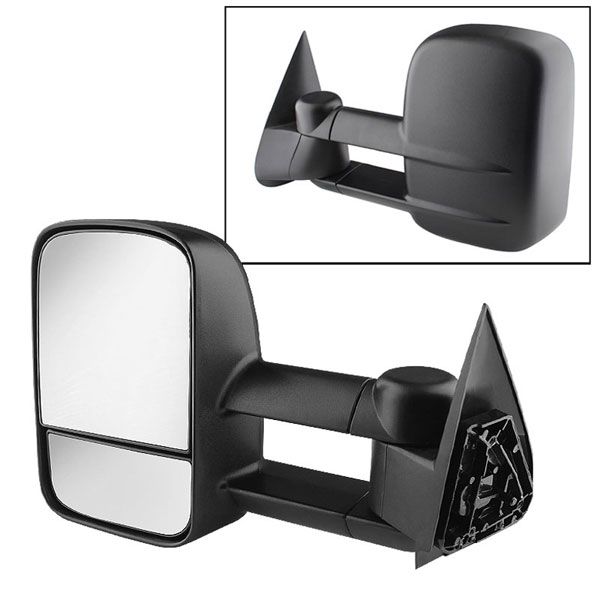xTune (MIR-CSIL03-MA-L)  Chevrolet Silverado 03-06 Manual Extendable - MANUAL Adjust Mirror - LEFT