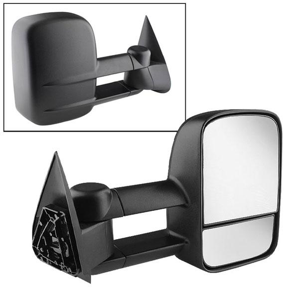 xTune 9924927 | Chevrolet Silverado Manual Extendable - MANUAL Adjust Mirror - RIGHT; 2003-2006