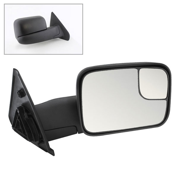 xTune 9925108 | Dodge Ram Manual Extendable - MANUAL Adjust Mirror - RIGHT; 2002-2009