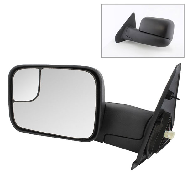 xTune 9925115 | Dodge Ram Manual Extendable - POWER Heated Adjust Mirror - LEFT; 2002-2009