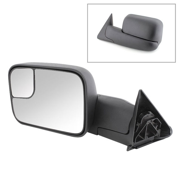 xTune 9925078 | Dodge Ram Manual Extendable - POWER Heated Adjust Mirror - LEFT; 1994-2001