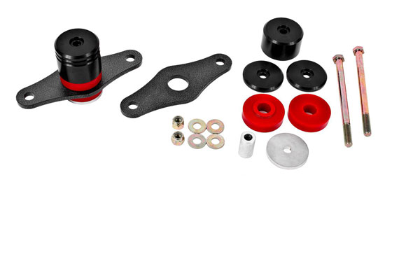 BMR Suspension MM007 | BMR Mustang Motor Mount Kit with Polyurethane Bushings Black Anodized; 2015-2018