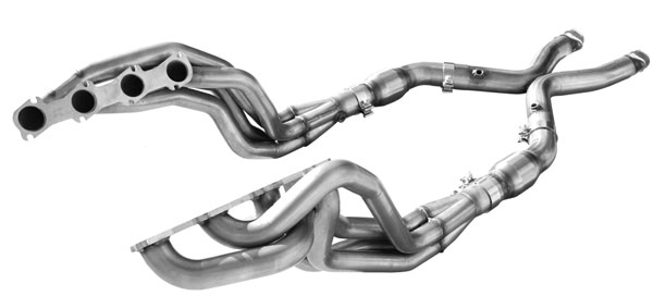 American Racing Headers MSTE2V58WC |  ARH LongTube 1-5/8 304-SS Headers W/CATS + X Pipe for Mustang 2V V8; 1999-2004