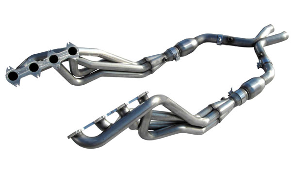 American Racing Headers MT3-05158212LSHWC | Mustang 3V Long System With Cats: 1-5/8in x 2-1/2in Headers, 2-1/2in Connection Pipes With Cats, 2-1/2in H-Pipe; 2005-2010