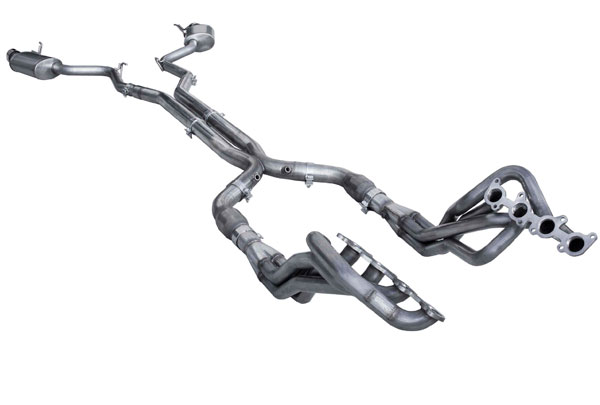 American Racing Headers (MTC5-15200300FSHNC)  MUSTANG 5.0L/COYOTE FULL SYSTEM NC 2015-2017 Header 2in x 3in, 3in H-pipe No Cats, with Pure Thunder series mufflers (2 INCH SYSTEM NOT AVAILABLE WITH CATS)