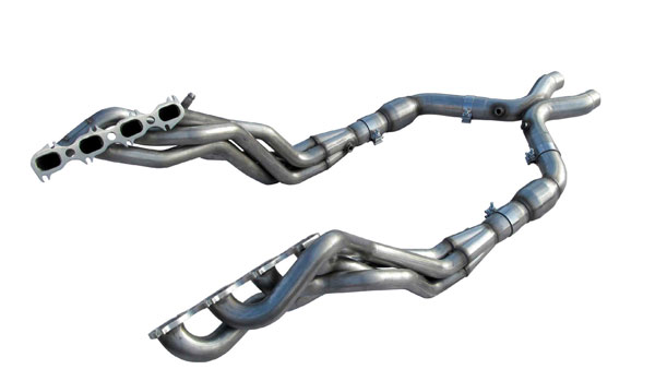 American Racing Headers MTSH5-11134300LSNC:  Mustang Shelby GT500 2011-2015 Long System With Cats: 1-3/4in x 3in Headers, 3in X-Pipe With Cats