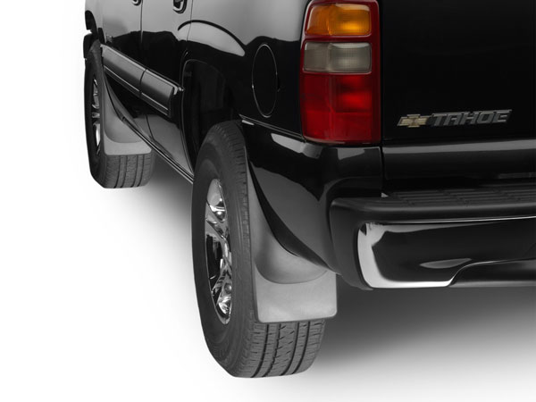 WeatherTech 110006-120006 | No Drill MudFlaps Chevrolet Silverado - Black (Will NOT fit with fender flares or trim); 2001-2006
