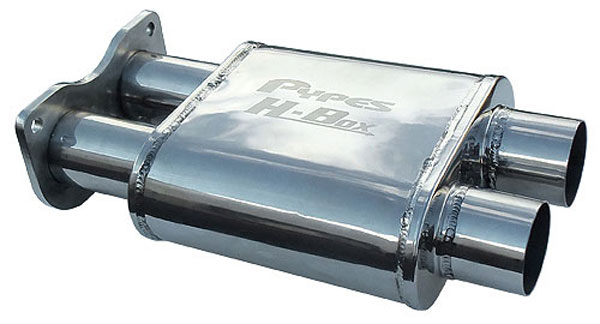 Pypes Exhaust MVH10: Pypes GTO H-Box Muffler 2005-06 304 Stainless Steel