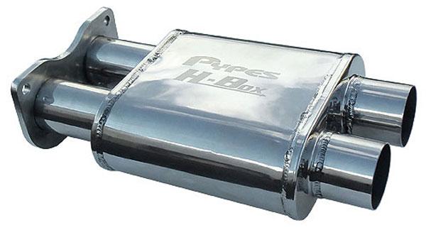 Pypes Exhaust MVH10 | Pypes GTO H-Box Muffler 304 Stainless Steel; 2005-2006