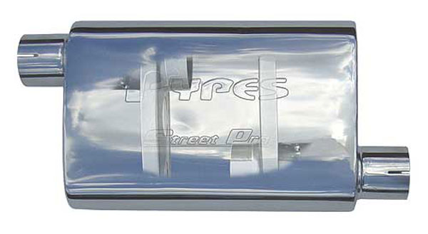 Pypes Exhaust MVS33: Pypes Street Pro 18 2.5 off/center 409 Stainless non-polished