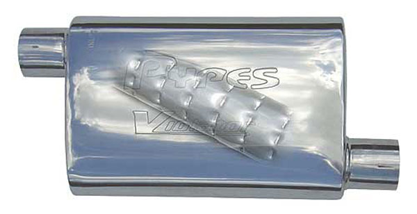 Pypes Exhaust MVV10: Pypes Violator 14 2.5 off/off 409 Stainless non-polished