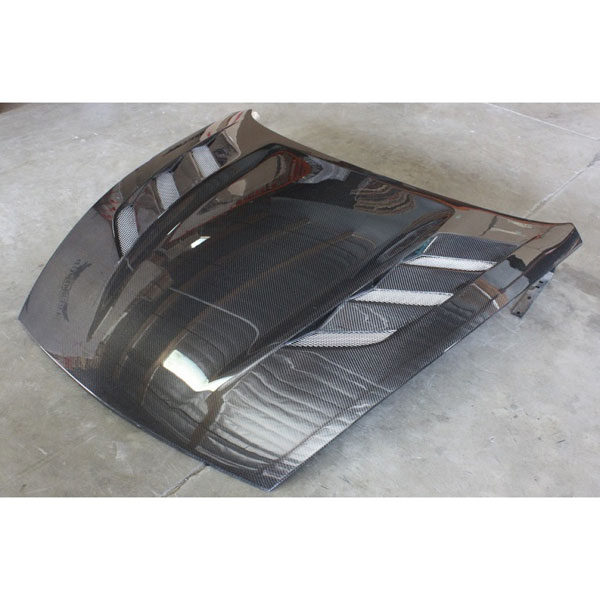 Amerihood N3709AHAMUCFH | AMU Style Carbon Fiber Hood For Nissan 370z; 2009-2019