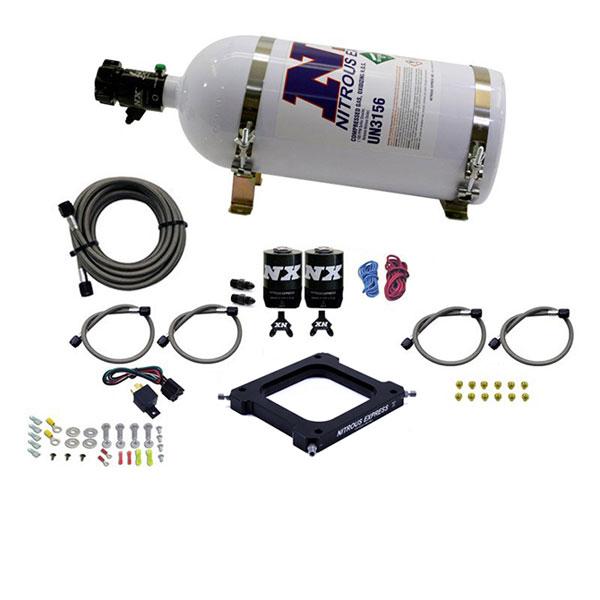 Nitrous Express 67070-10 | 4500 Assassin Plate Stage 6 Nitrous Kit (50-300HP) w/10lb Bottle
