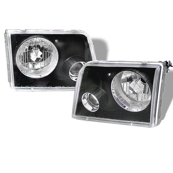 xTune PRO-APC-FR93-BK |  Ford Ranger Projector Headlights - Black; 1993-1997