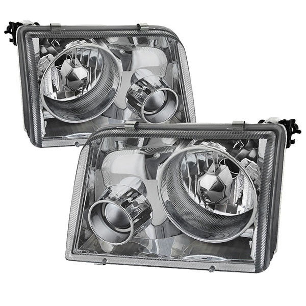 xTune PRO-APC-FR93-C:  Ford Ranger 93-97 Projector Headlights - Chrome