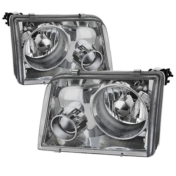 xTune PRO-APC-FR93-C |  Ford Ranger 93-97 Projector Headlights - Chrome