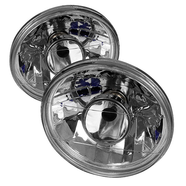 xTune PRO-CL-7ROU-H4-C:  Inch Round 7 Projector Lamp W/ Super White H4 Bulbs - Chrome