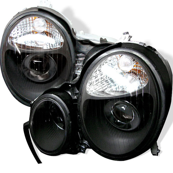 xTune PRO-CL-MW21095-BK |  Mercedes Benz W210 E-Class Projector Headlights - Black; 1996-1999