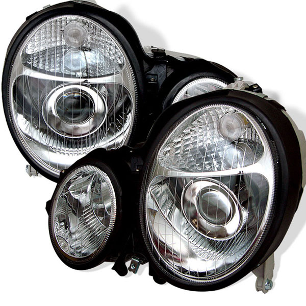 xTune PRO-CL-MW21095-C:  Mercedes Benz W210 E-Class 96-99 Projector Headlights - Chrome