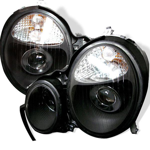 xTune PRO-CL-MW21099-BK |  Mercedes Benz W210 E-Class Projector Headlights - Black; 2000-2002
