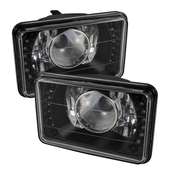 xTune PRO-JH-4X6-LED-BK:  Universal 4x6 Inch Projector Headlights W/LED - Black