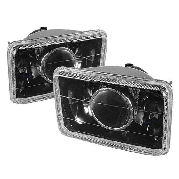 xTune PRO-OP-4X6-BK | Projector Headlights 4 x 6 Inch - Black; 2000-2013