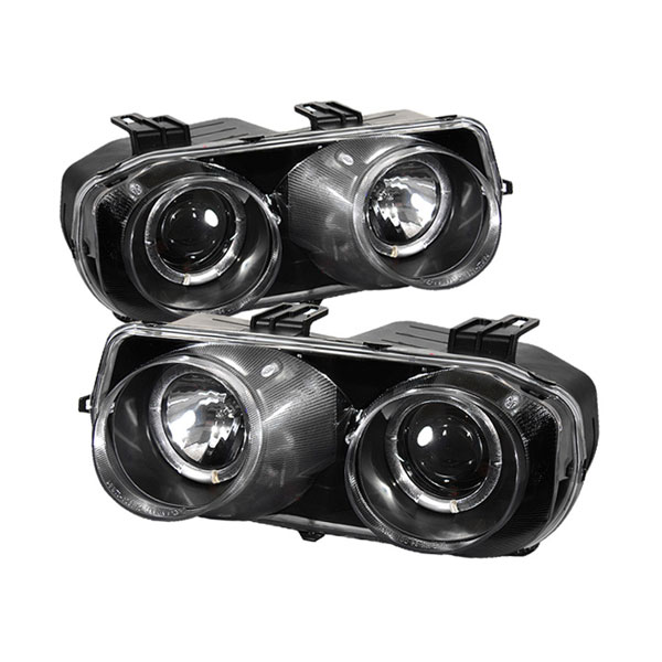 Spyder 5008671:  Acura Integra 94-97 Halo Projector Headlights - Black  - (PRO-YD-AI94-HL-BK)