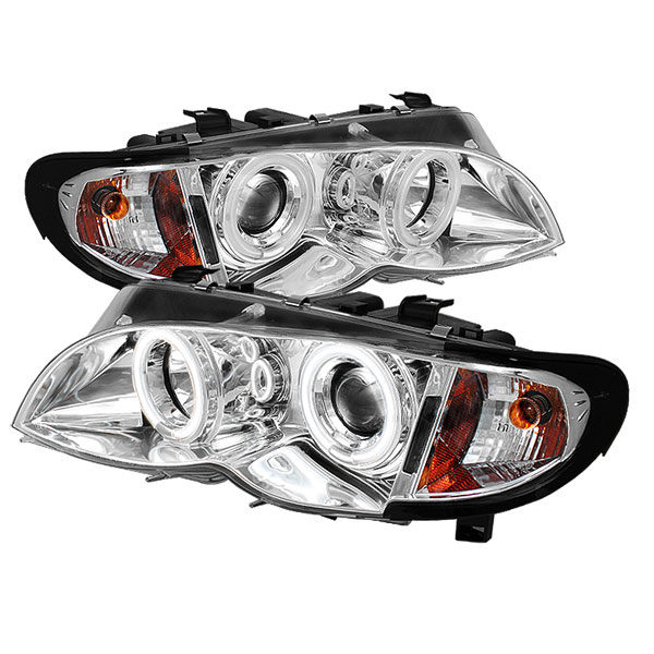 Spyder PRO-YD-BMWE4602-4D-AM-CCFL-C:  BMW E46 3-Series 02-05 4DR 1PC CCFL Projector Headlights - Chrome