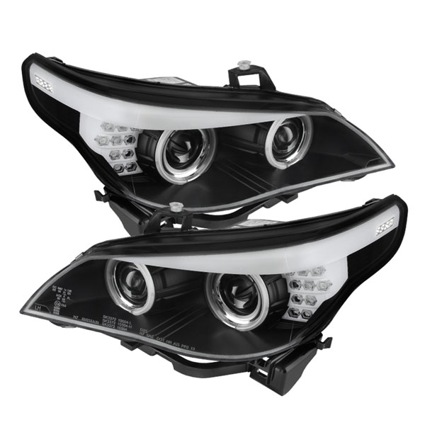 Spyder 5074041:  BMW E60 5-Series 04-07 Projector Headlights - Halogen Model Only ( Not Compatible With Xenon/HID Model ) - CCFL Halo - Black - (PRO-YD-BMWE6004-CCFL-BK)